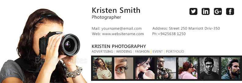 Photographer Email Signature Design Template