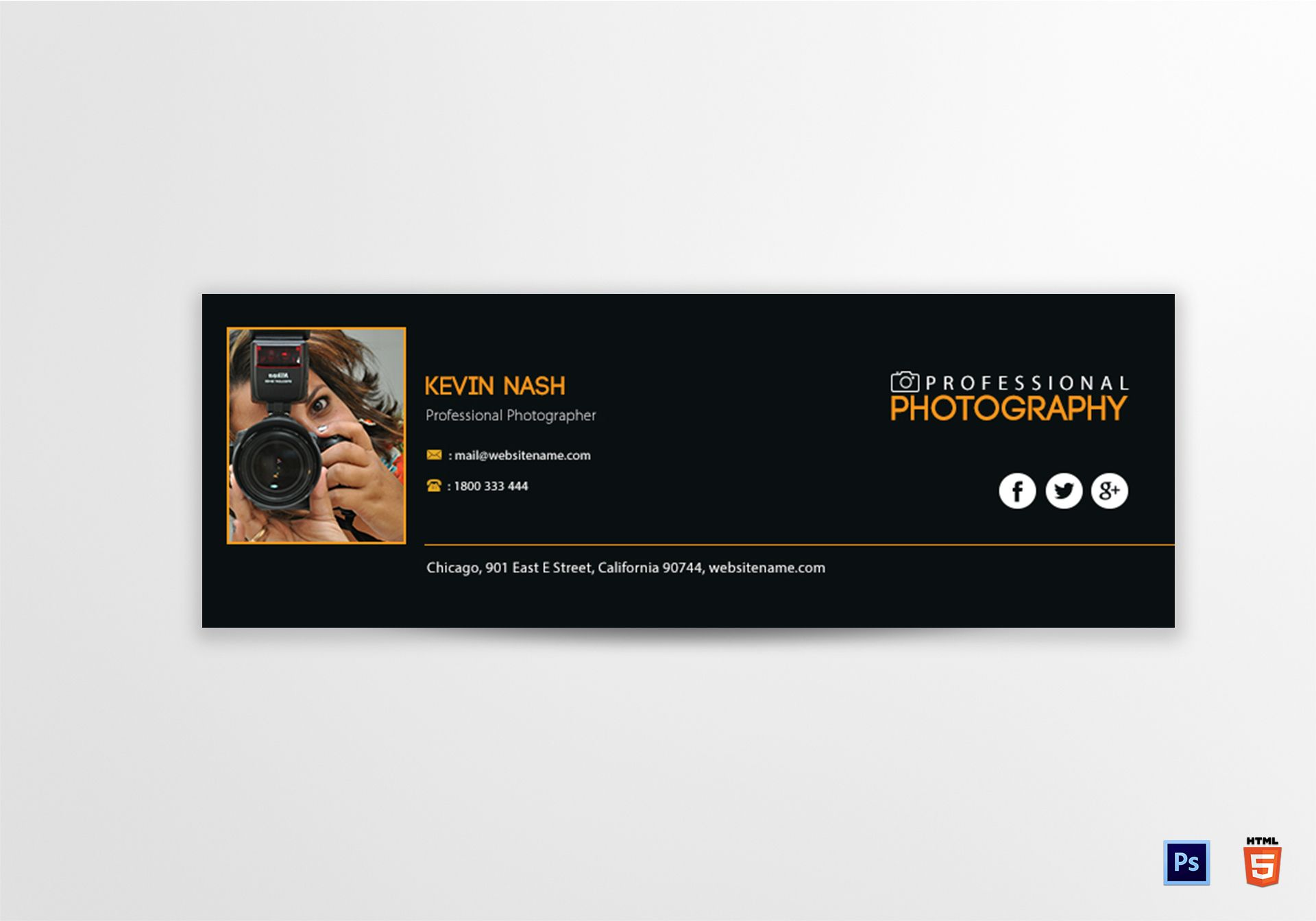 Photography Email Signature Template