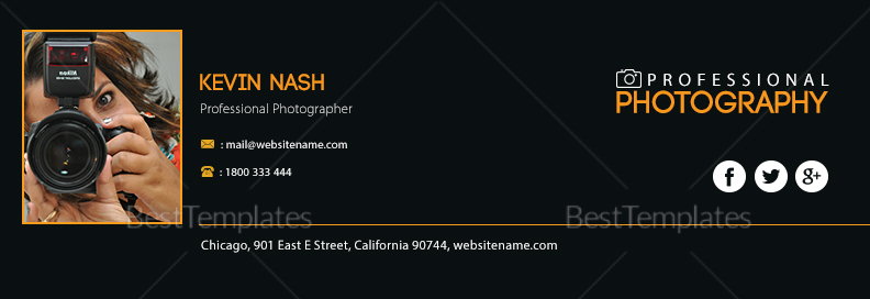 Photography Email Signature Design Template