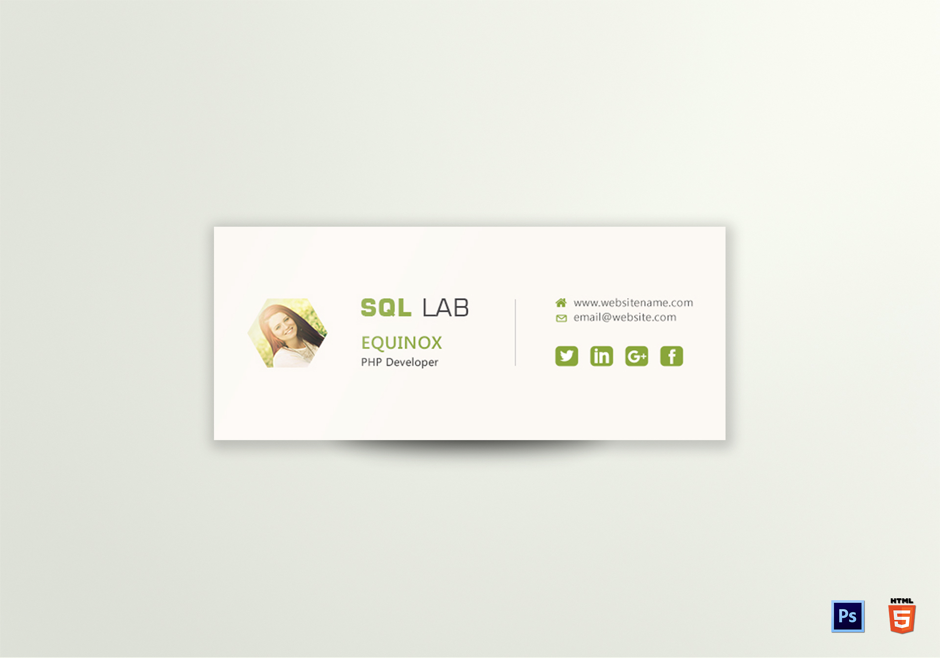 Php Developer Email Signature Template