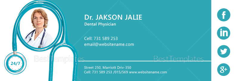 Dental Care Email Signature Template