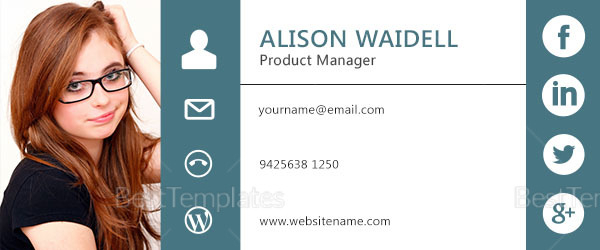Product Manager Email Signature Design Template