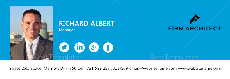 Design Architect Email Signature Template