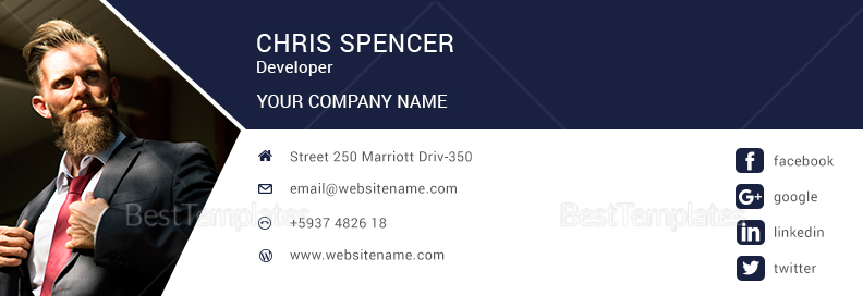 Developers Email Signature Template