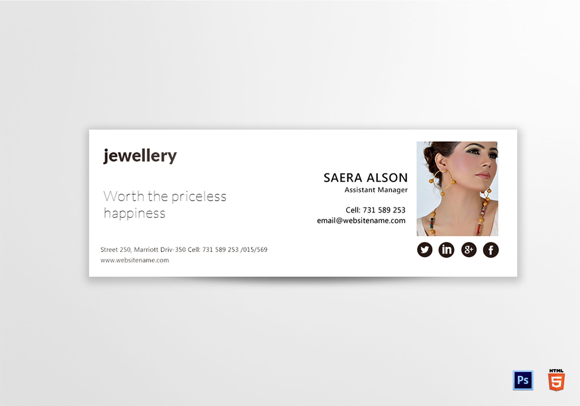 Jewellery Email Signature Template