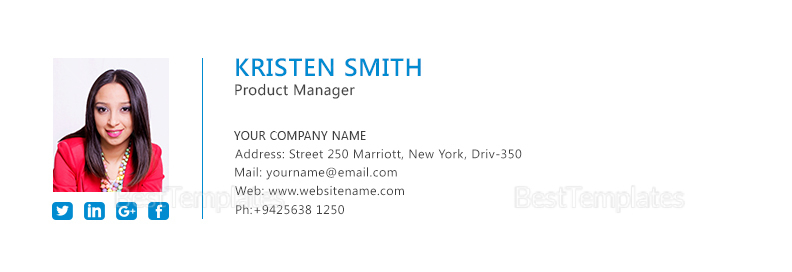 Professional Product Manager Email Signature DTemplate