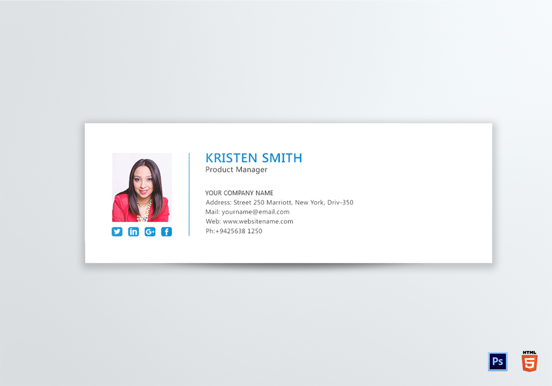 Professional Product Manager Email Signature Design Template In Psd