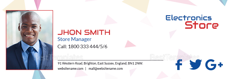 Electronic Store Email Signature Template
