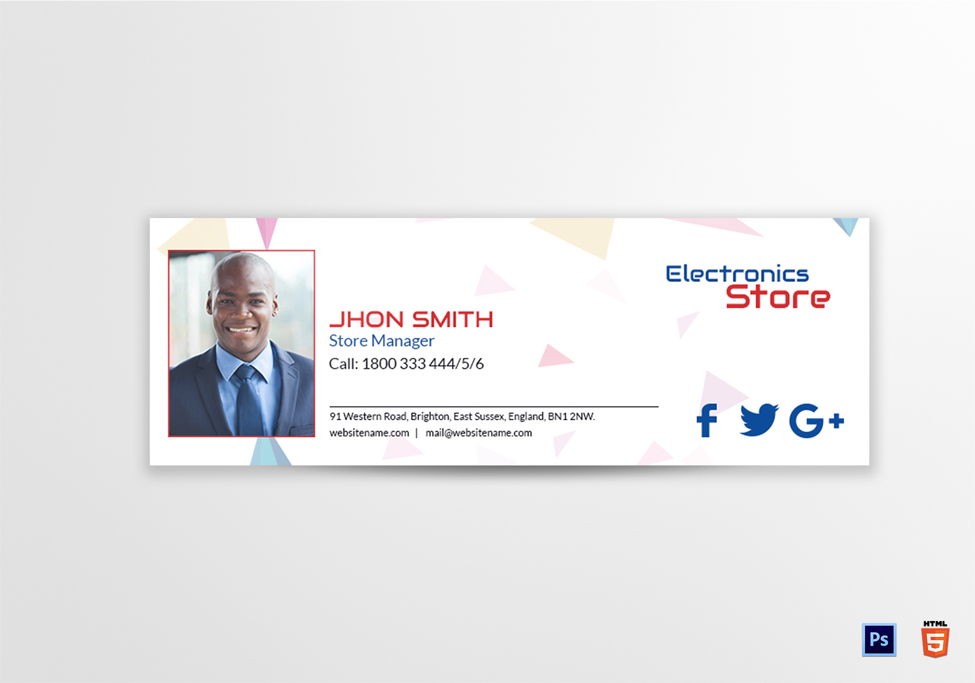 Electronic Store Email Signature