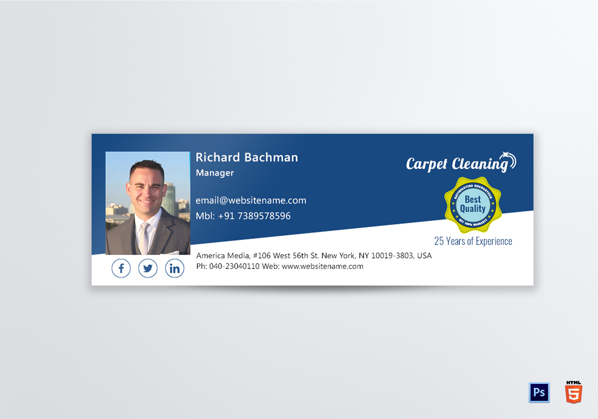 Carpet Cleaning Email Signature