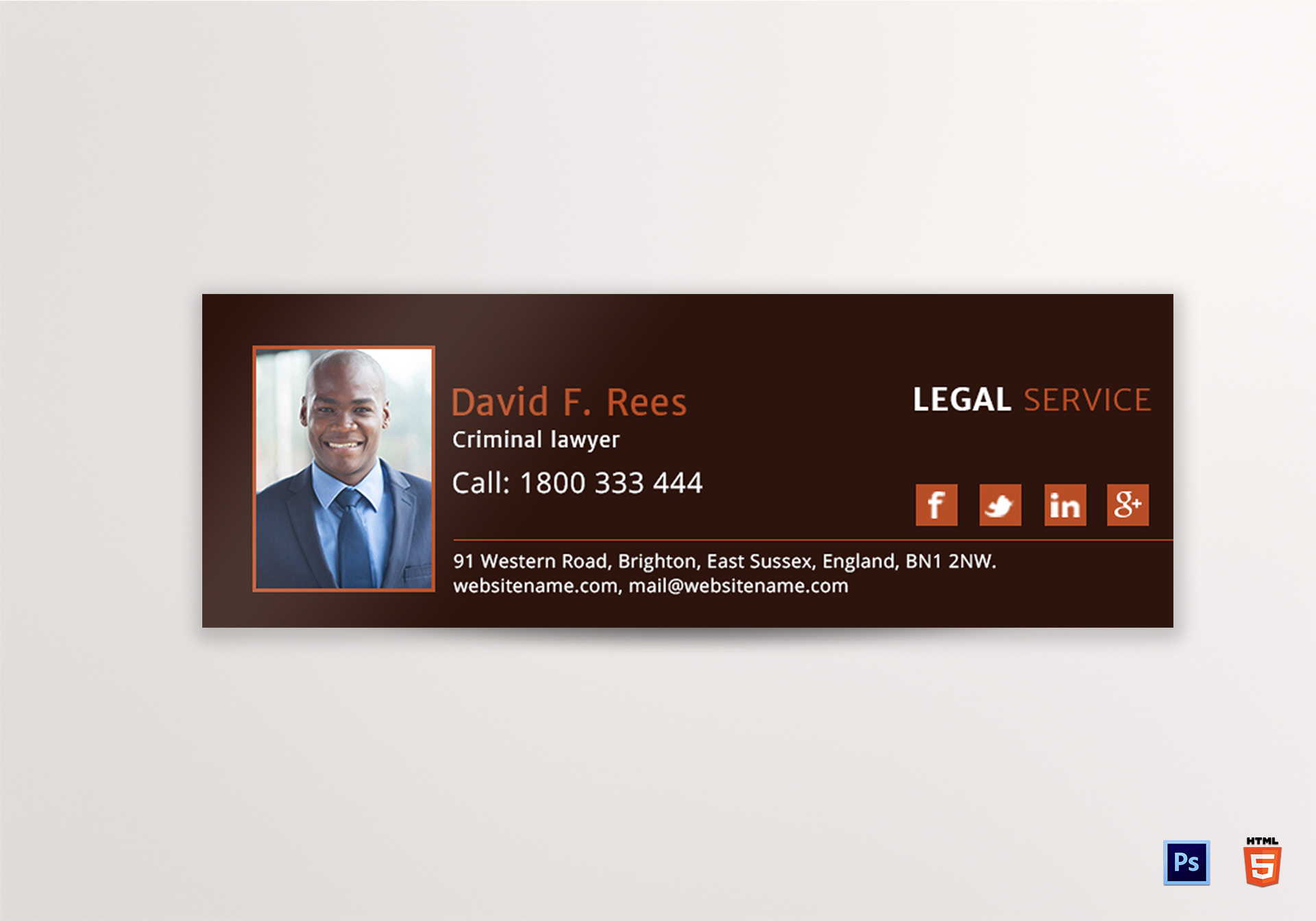 Legal Services Email Signature Template