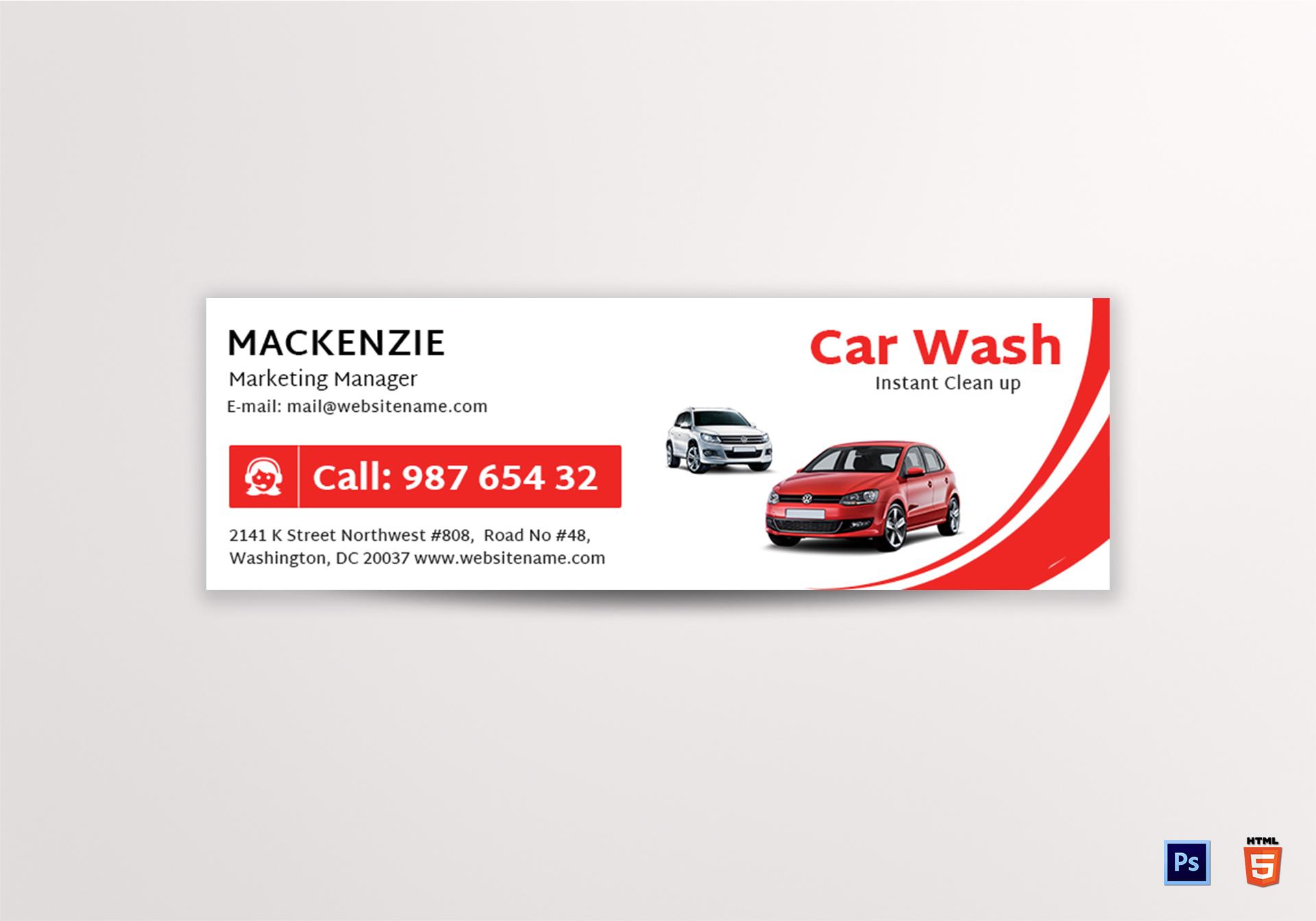 Car Wash Email Signature
