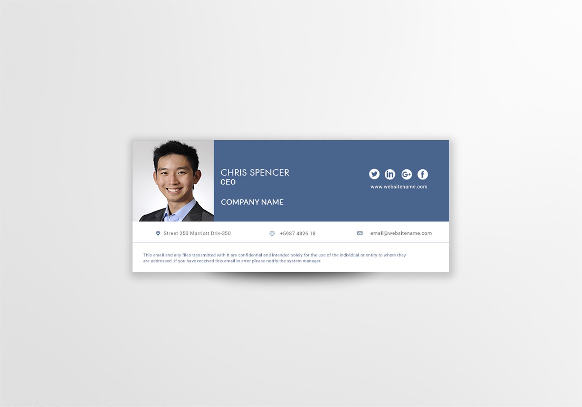 CEO Email Signature