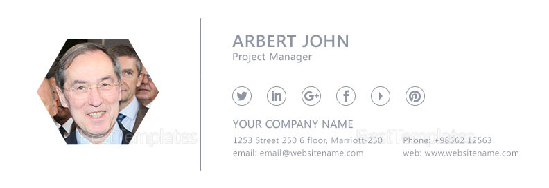Project Manager Email Signature Design Template