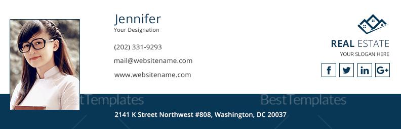 Real Estate Email Signature Design Template