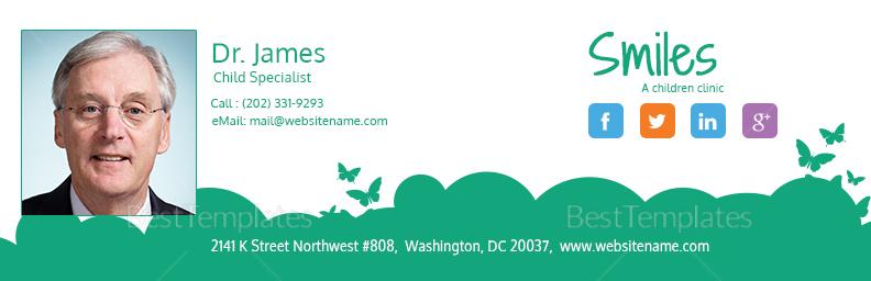 Children Clinic Email Signature Template