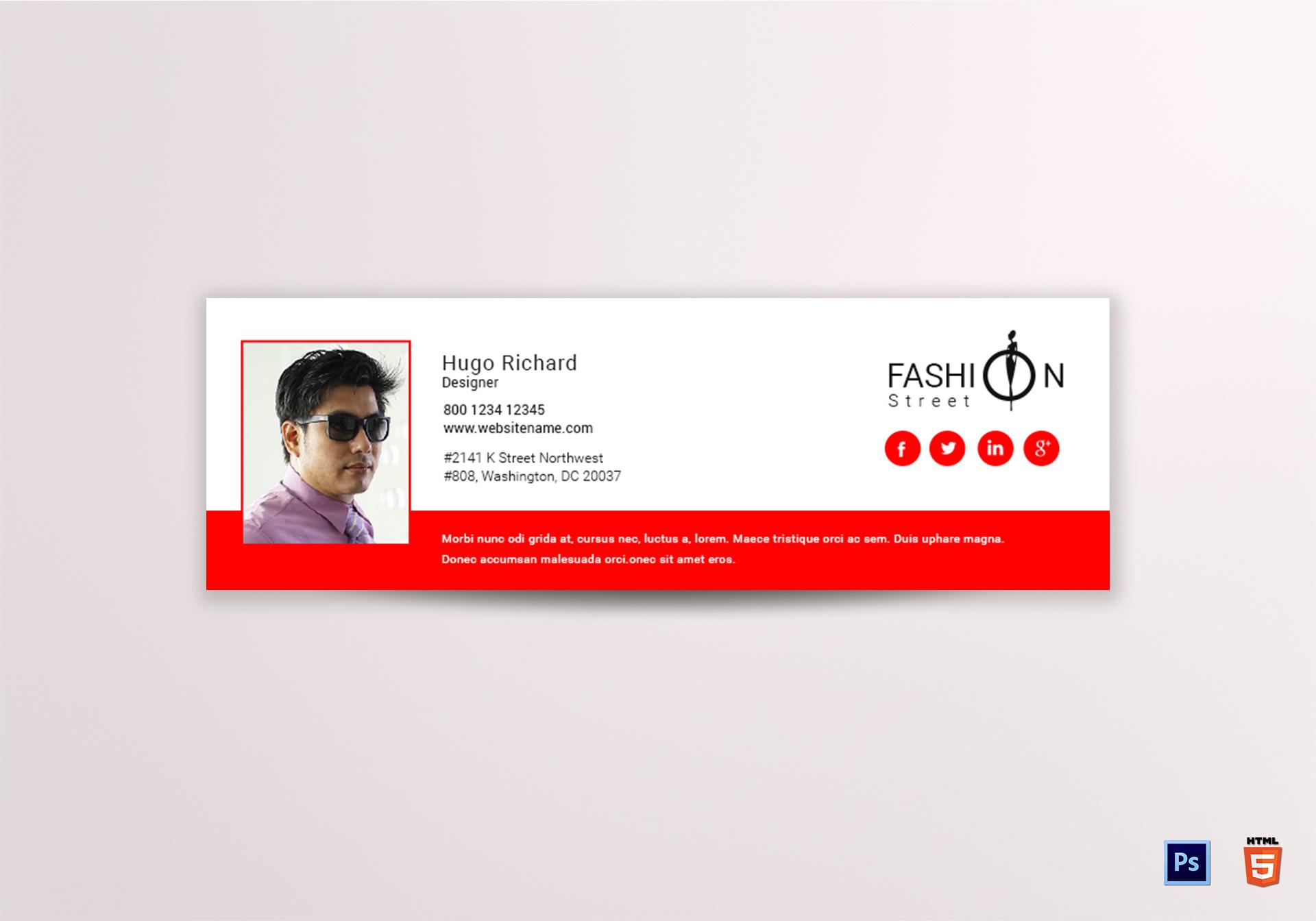 Fashion Email Signature