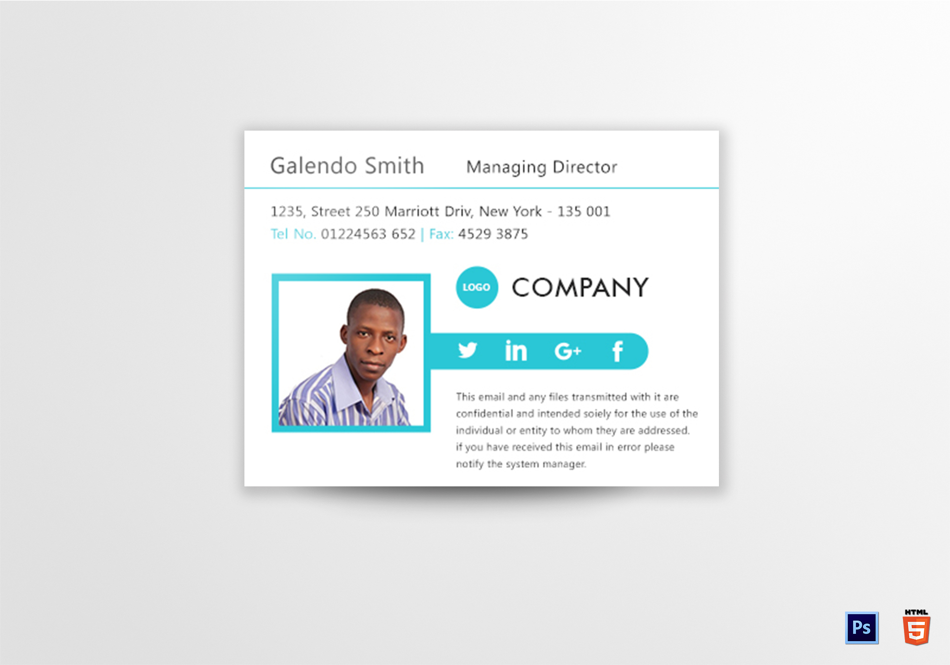 Managing Director Email Signature Template