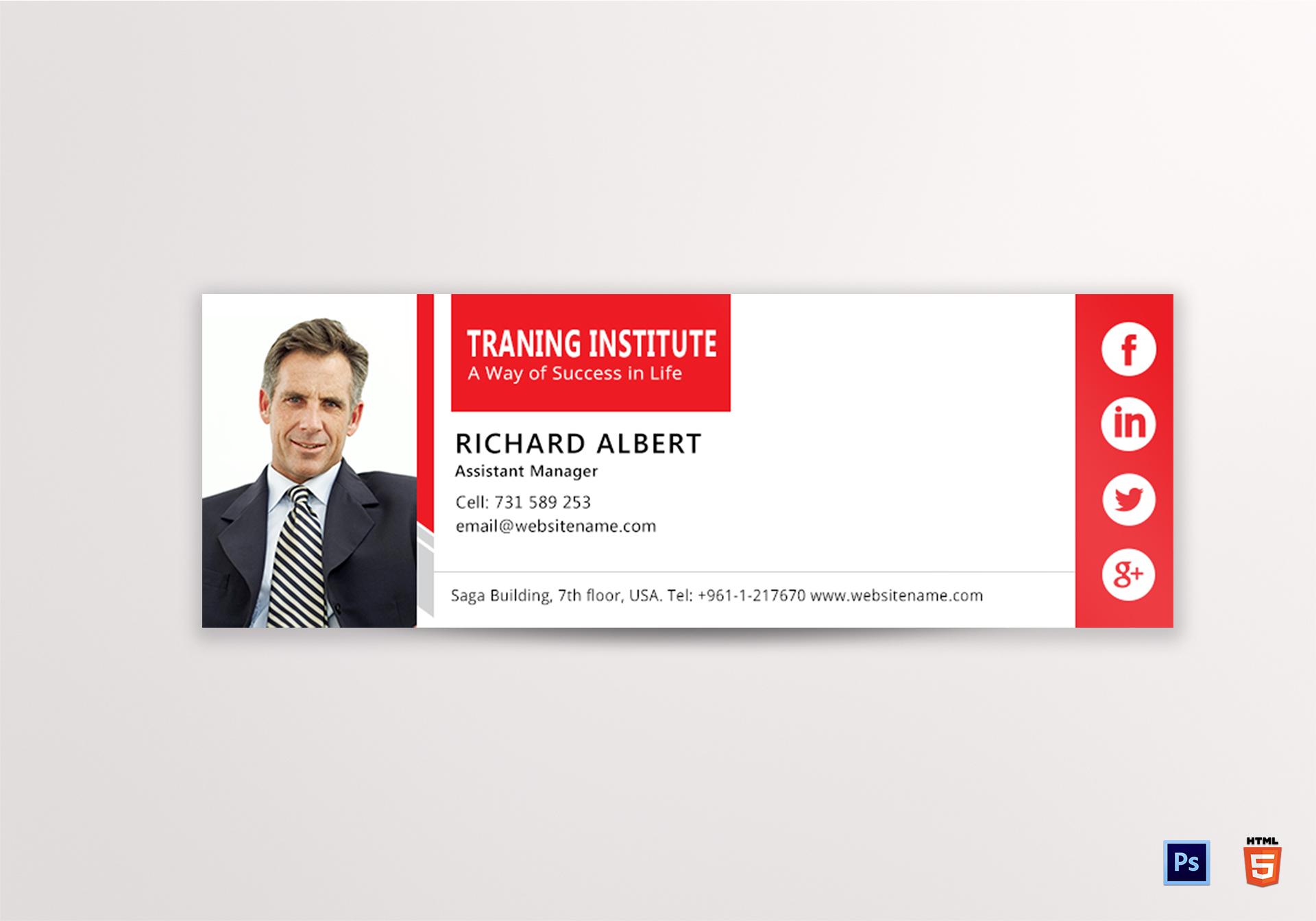 Training Email Signature
