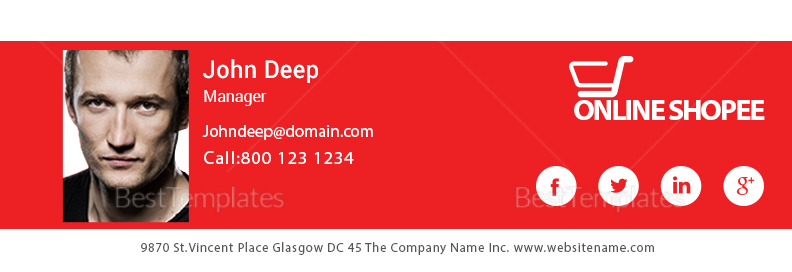 Sales Manager Email Signature Design Template