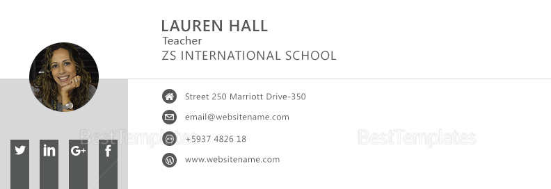 Teacher Email Signature Template