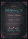 Chalkboard Wedding Party Invitation Design Template