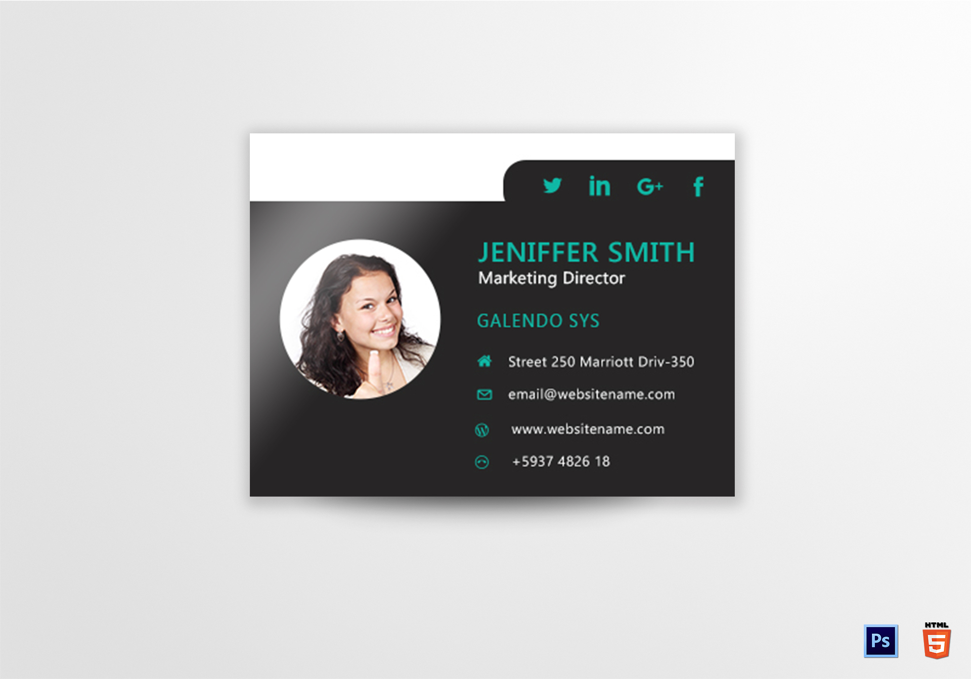 Marketing Director Email Signature Design Template in PSD, HTML
