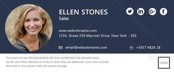 Sales Email Signature Design Template