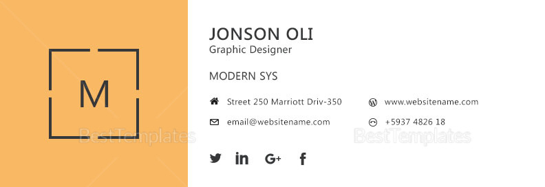 Modern Email Signature Template