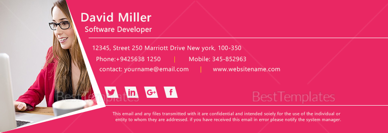 Software Developer Email Signature Design Template In Psd Html