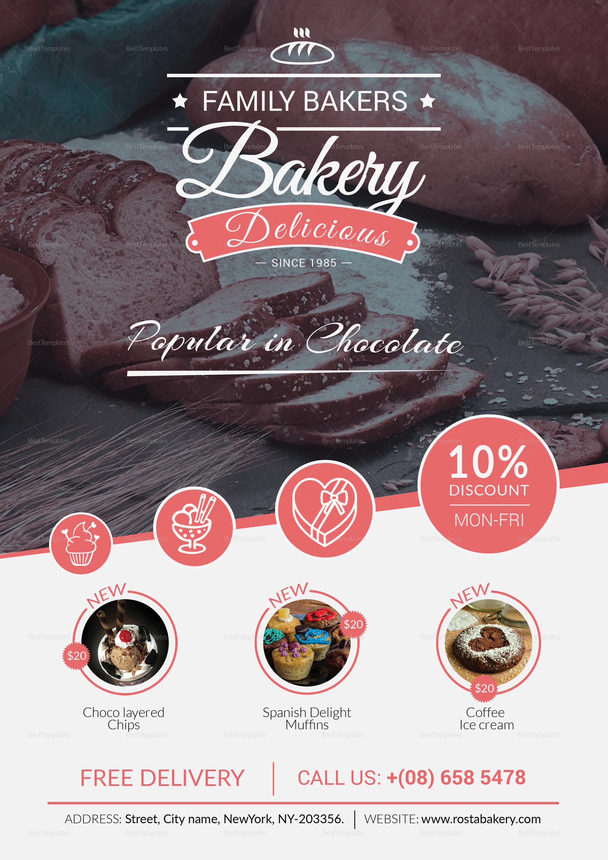 Cherry Bakery Menu Template