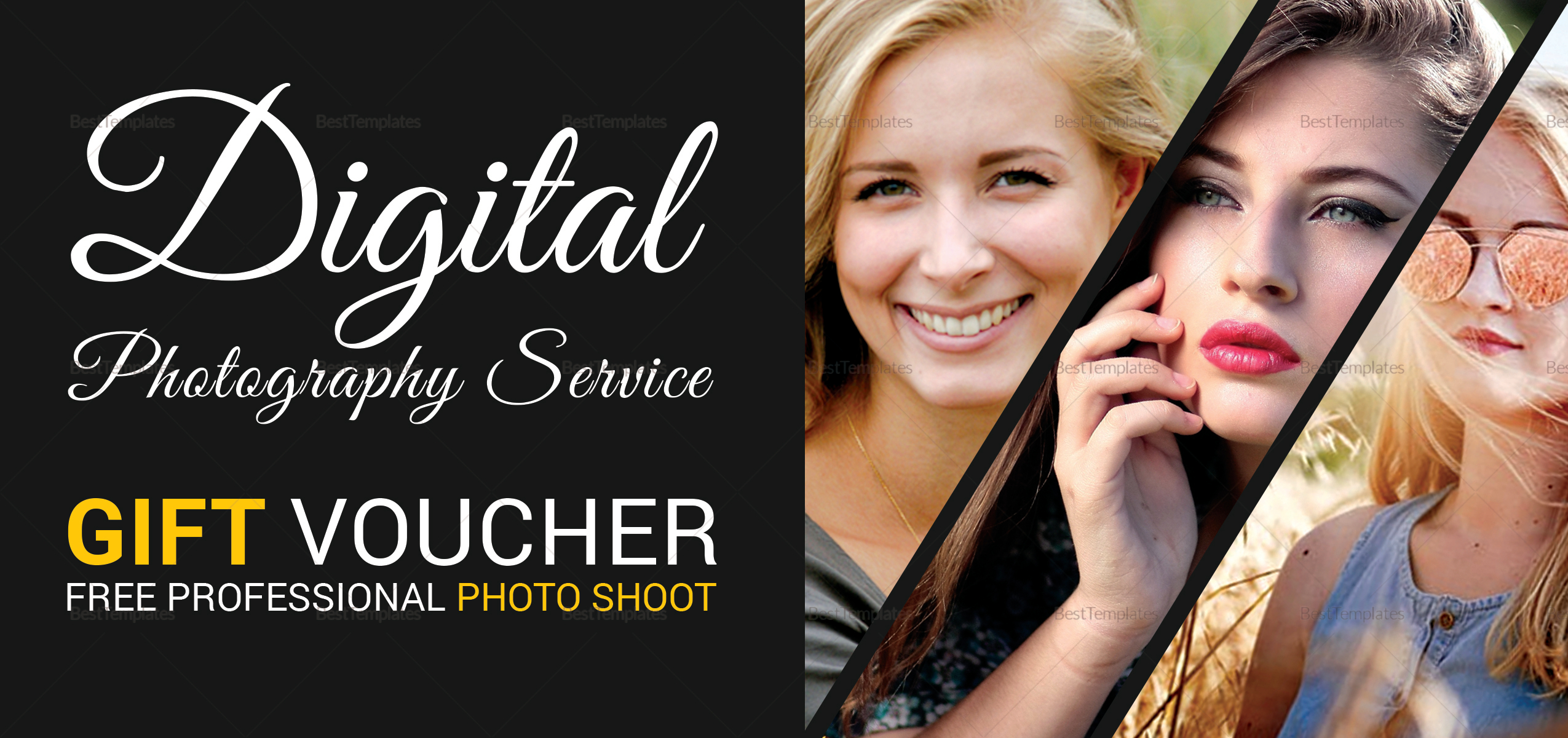 Photo Session Gift Voucher Template 1