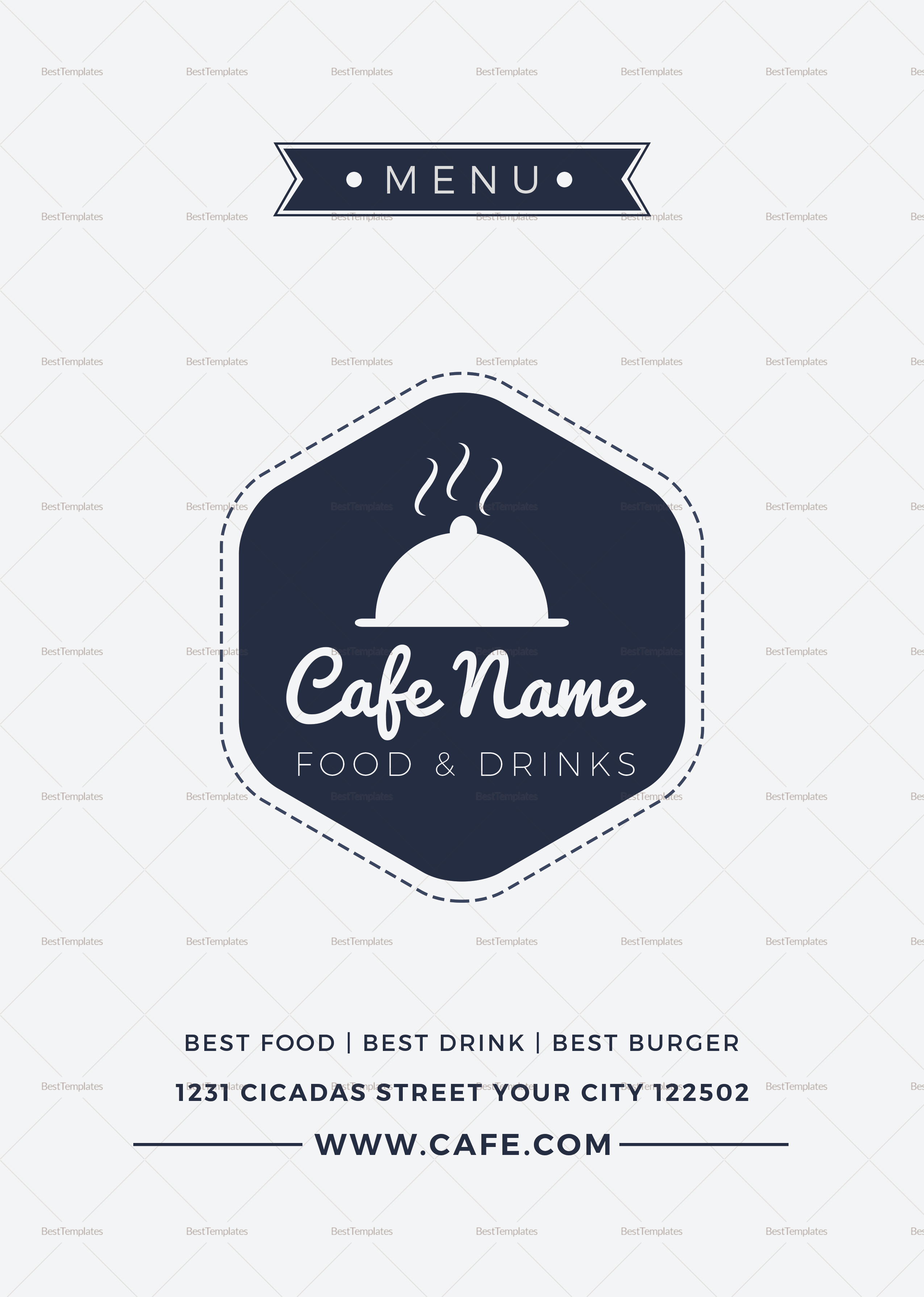 Club Cafe Menu Template