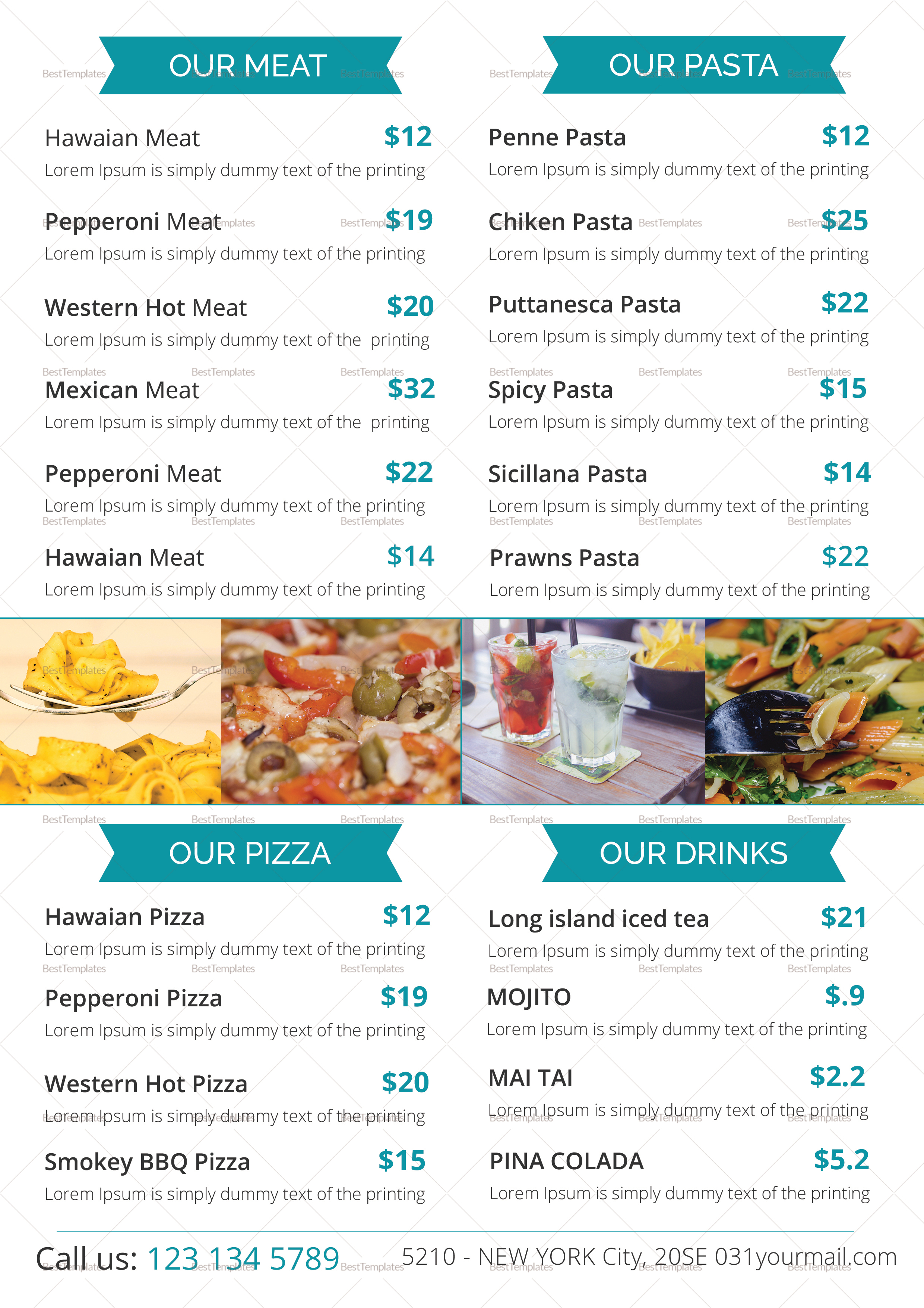 Food Menu Design Template