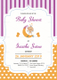 Colorful  Baby Shower Invitation Card Design Template