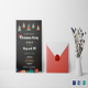 Chalkboard Christmas Invitation Card Template