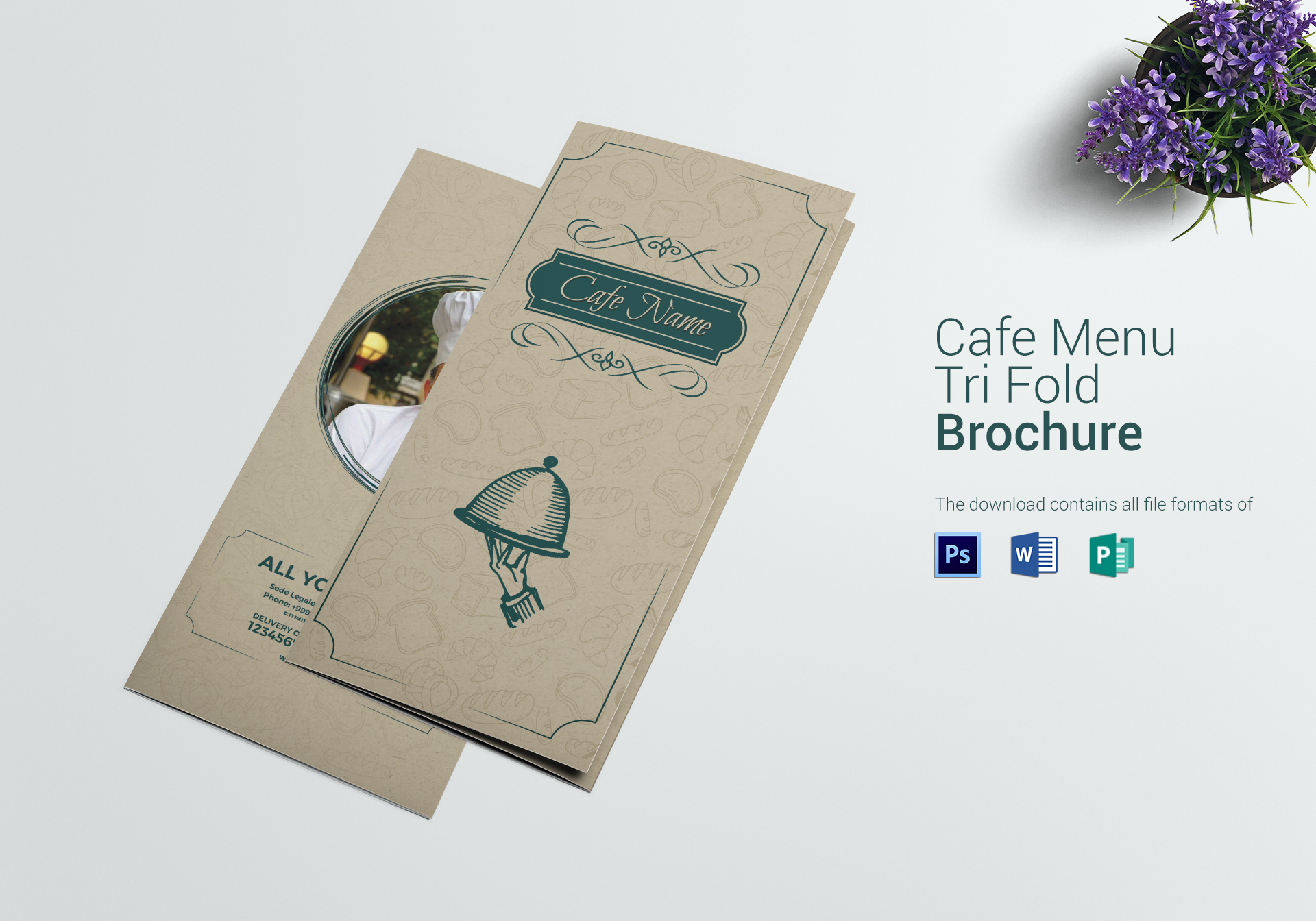 Classic Cafe Menu Tri Fold Template