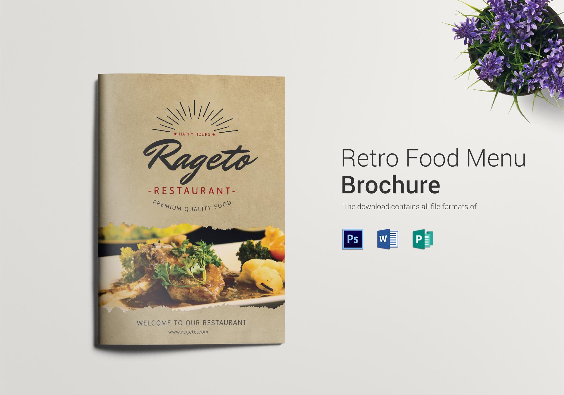 Retro Food Menu Bifold