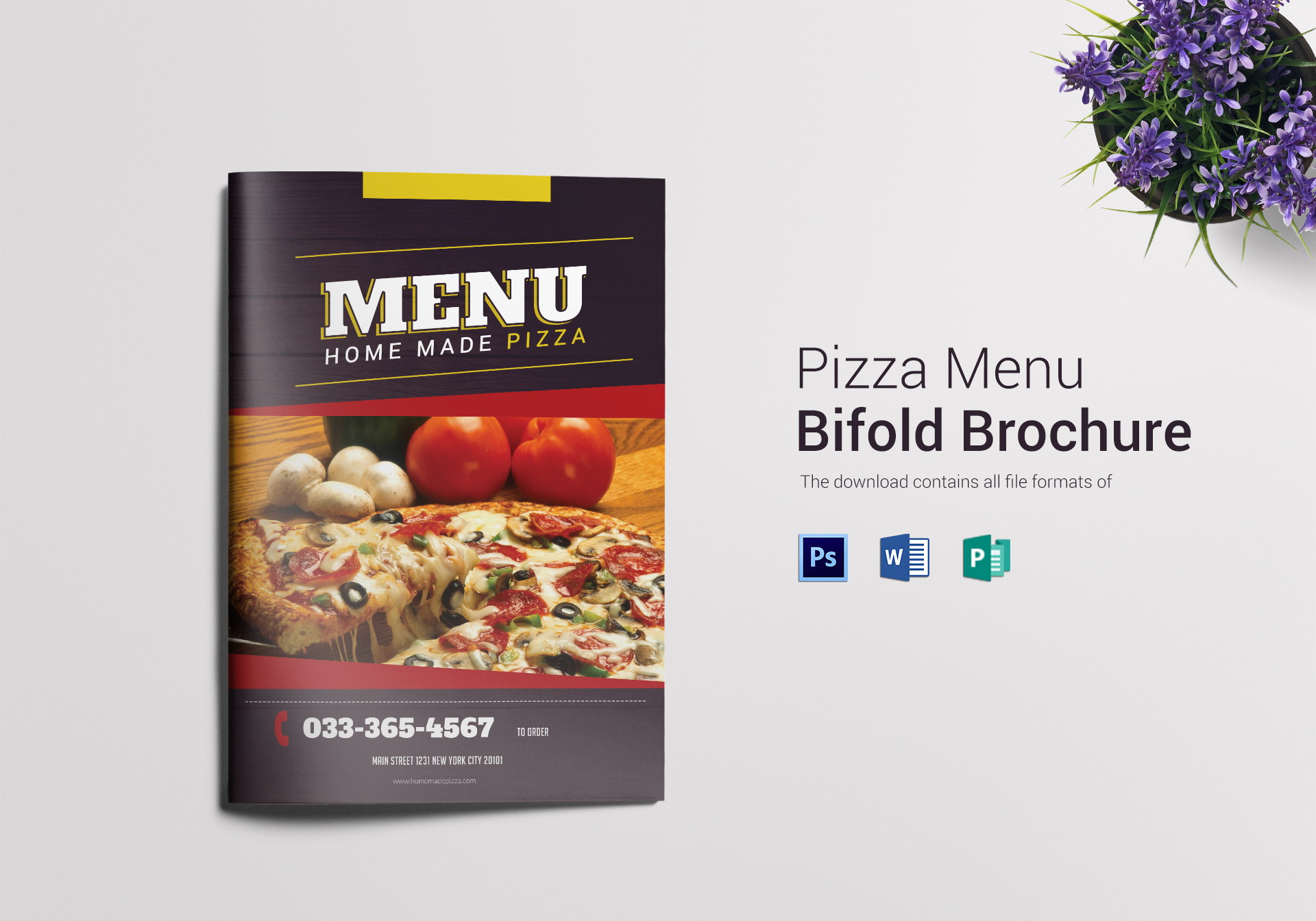 Pizza Menu Bifold