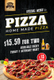 Pizza Menu Table Tent Template