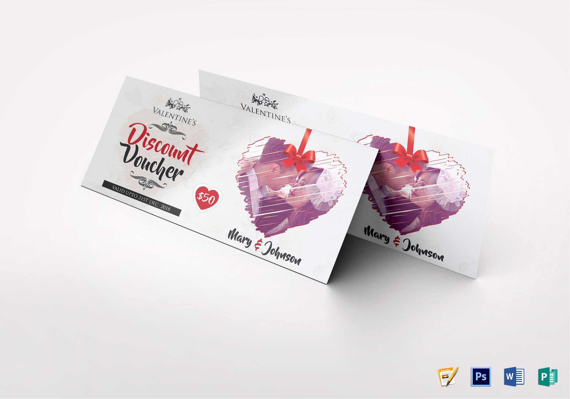 Valentine Discount Voucher Template