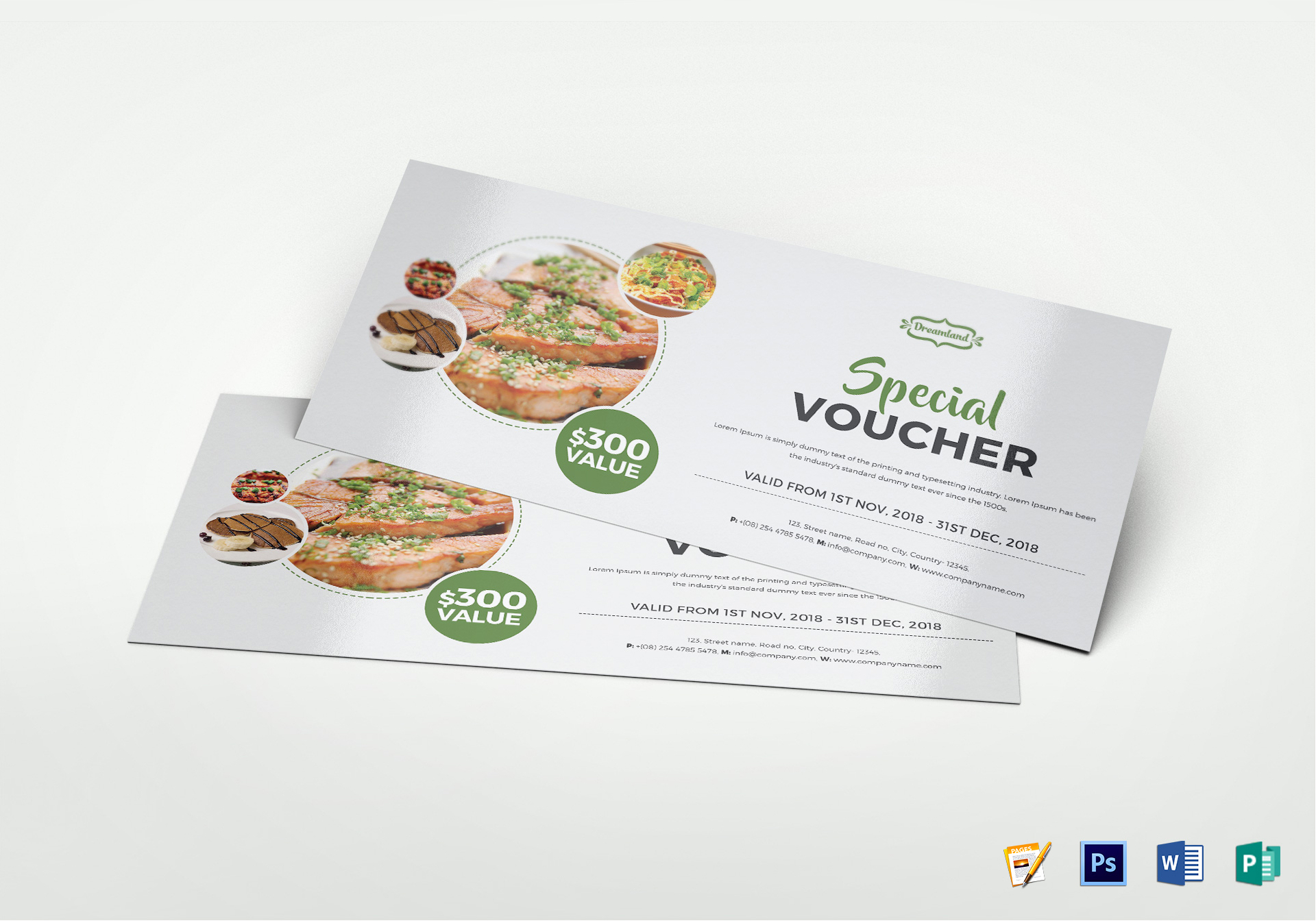 Modern Food Voucher Template