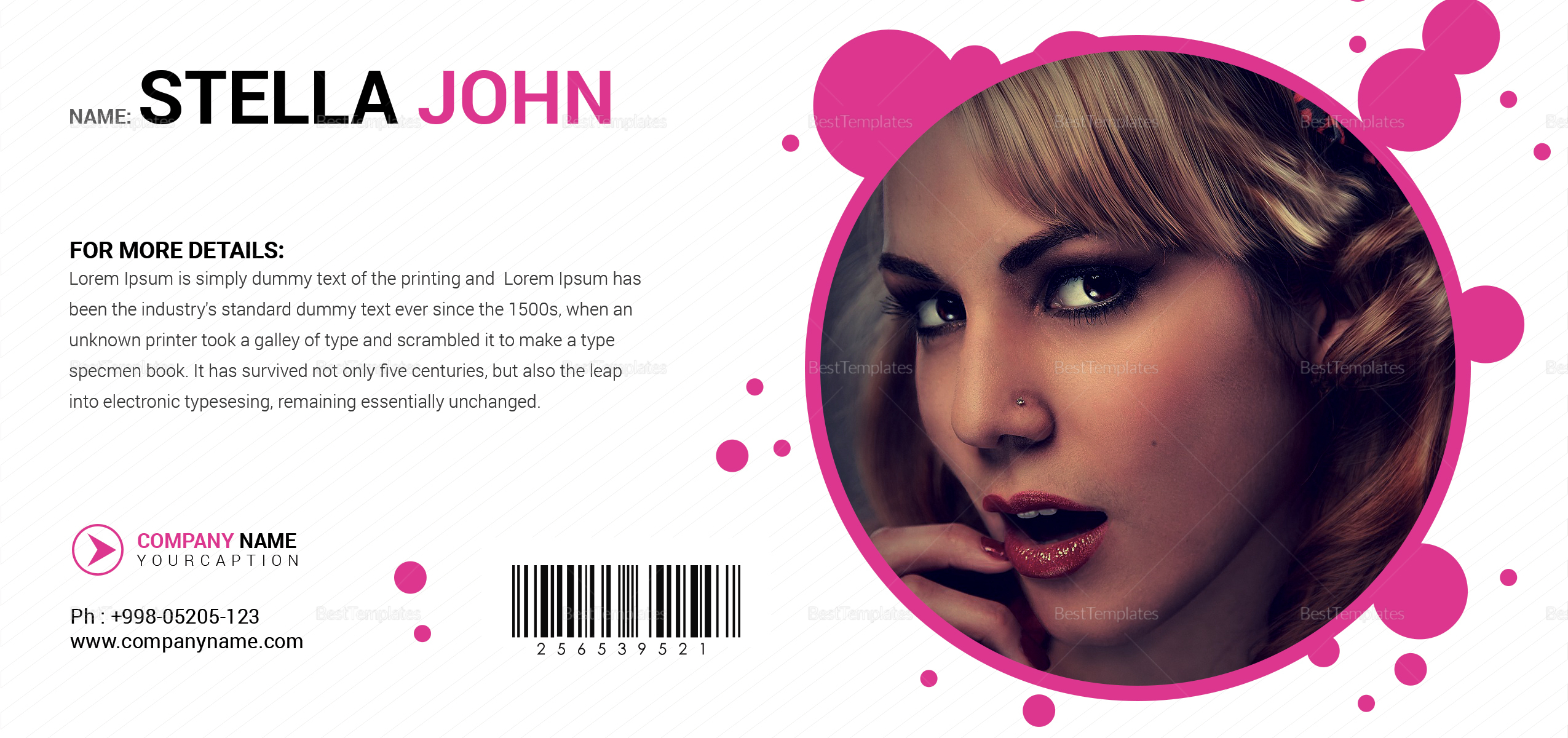 Fashion Gift Voucher Design Template