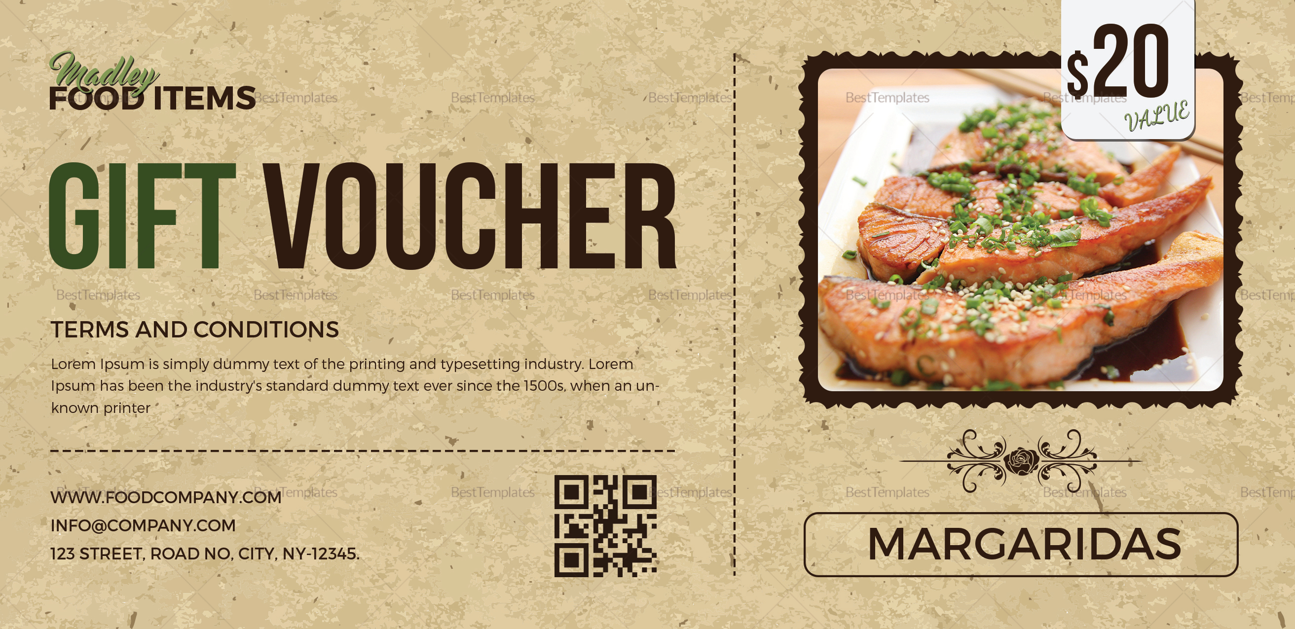 Food coupon design template in psd word publisher pages for Free meal coupon template