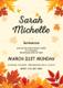 Autumn Debut Invitation Card Design Template