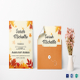 Autumn Debut Invitation Card Template