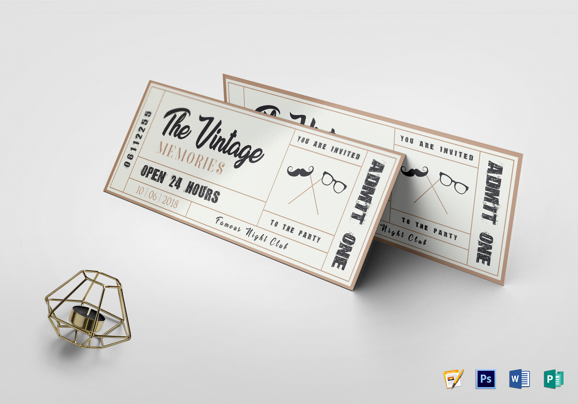 Old fashioned theatre ticket template 78