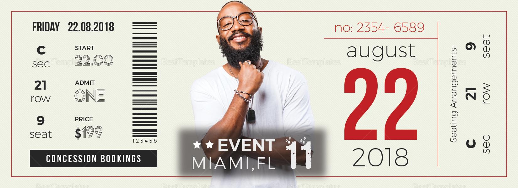 Unique Event Ticket Design Template