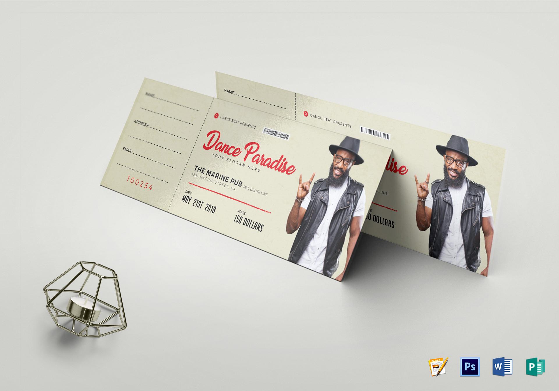 Dance Event Ticket