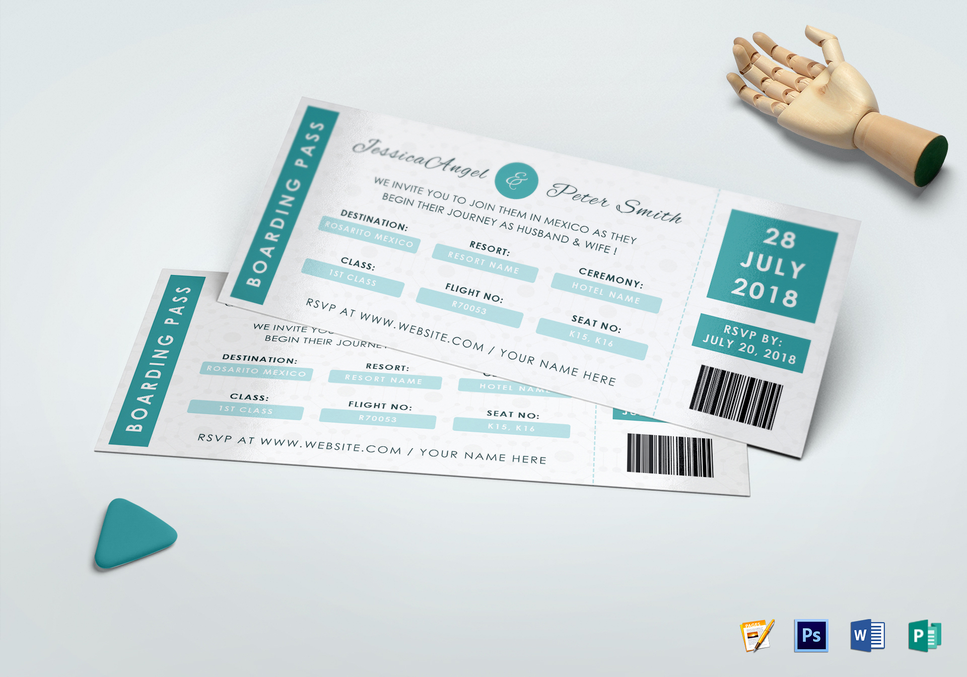 Wedding Ceremony Invitation Ticket